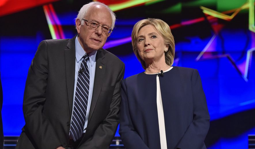 Image result for hillary clinton and bernie sanders