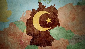 The Islamification of Germany Illustration by Greg Groesch/The Washington Times