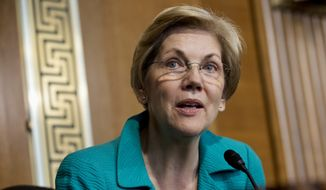 Although Sen. Elizabeth Warren signed a letter urging Hillary Rodham Clinton to run for the highest office, she hasn't officially endorsed Mrs. Clinton's campaign. (Associated Press)