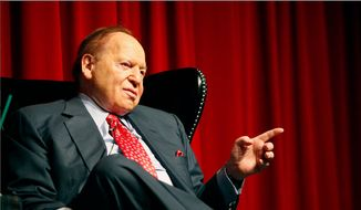 Philanthropist and major GOP donor Sheldon Adelson (Associated Press) **FILE**
