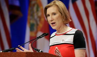 """I haven't used hyperbolic rhetoric about Planned Parenthood,"" said GOP presidential candidate Carly Fiorina. ""I've spoken the truth. And I will continue to speak the truth."" (Associated Press)"