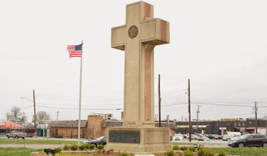 Commonly referred to as the Peace Cross, this is a picture of the historic Bladensburg, Maryland, World War I Veterans Memorial. (Photo/Liberty Institute website)