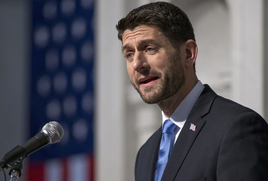 New House Speaker Paul Ryan of Wis. calls for a bold pro-growth agenda as he delivers his first major policy speech since talking over the gavel just over a month ago, Thursday, Dec. 3, 2015, at the Library of Congress on Capitol Hill in Washington.  (AP Photo/J. Scott Applewhite)