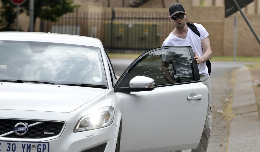 In this Saturday Nov. 14, 2015, file photo Oscar Pistorius reports for community service at the Garsfontein police station in Pretoria, South Africa, while under house arrest. (AP Photo)
