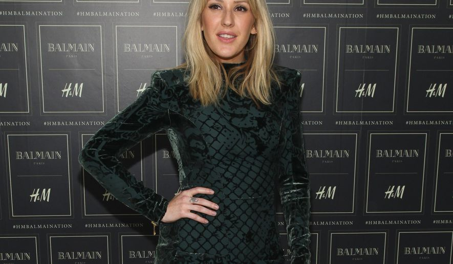 """FILE - In this Oct. 20, 2015 file photo, Ellie Goulding attends the Balmain x H&M Collection launch event at 23 Wall Street, in New York. The British pop star Goulding will perform from her new album to celebrate her holiday makeup collaboration with MAC Cosmetics on Wednesday night, Dec. 2, 2015, in Miami Beach, Fla. Miguel, who sings that oh-so-sexy """"Coffee"""" song, will also do a set at the bash, one of several star-studded events planned for Art Basel.  (Photo by Andy Kropa/Invision/AP, File)"""
