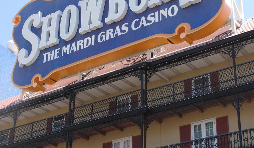 This June 27, 2014 photo shows the Showboat Casino Hotel in Atlantic City, N.J. shortly before it shut down. An unsuccessful effort by Stockton University to turn it into a satellite campus played a role in the departure of Stockton's former president and the promotion of its current one. On Wednesday Dec. 2, 2015, Stockton approved a separation agreement with former president Herman Saatkamp, who was in charge during the Showboat deal, and the board also approved a 3 1/2-year contract for new president Harvey Kesselman. (AP Photo/Wayne Parry)