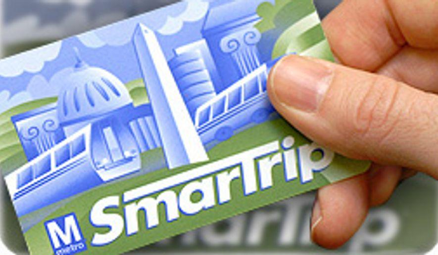 Metro SmarTrip card. ** FILE **