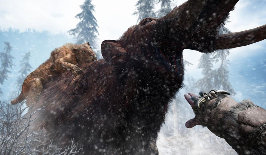 """This photo provided by Ubisoft shows a scene from the video game, """"Far Cry Primal."""" (Ubisoft via AP)"""