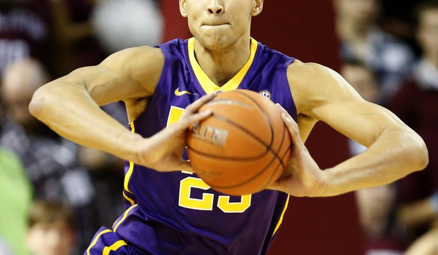 FILE - In this Nov. 30, 2015, file photo, LSU's Ben Simmons looks to pass in the first half against the College of Charleston during an NCAA college basketball game at TD Arena, in Charleston, S.C. LSU freshman forward Ben Simmons has lived up to his recruiting hype so far. His exceptional play through his first seven games gives an indication of what the Tigers might expect as Simmons becomes more comfortable with his teammates and the college game.  (AP Photo/Mic Smith, File)