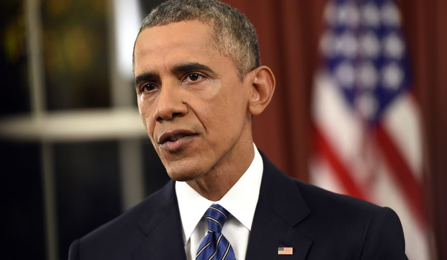 """As commander-in-chief, I have no greater responsibility than the security of the American people,"" President Obama said. ""The threat from terrorism is real, but we will overcome it."" (Associated Press)"