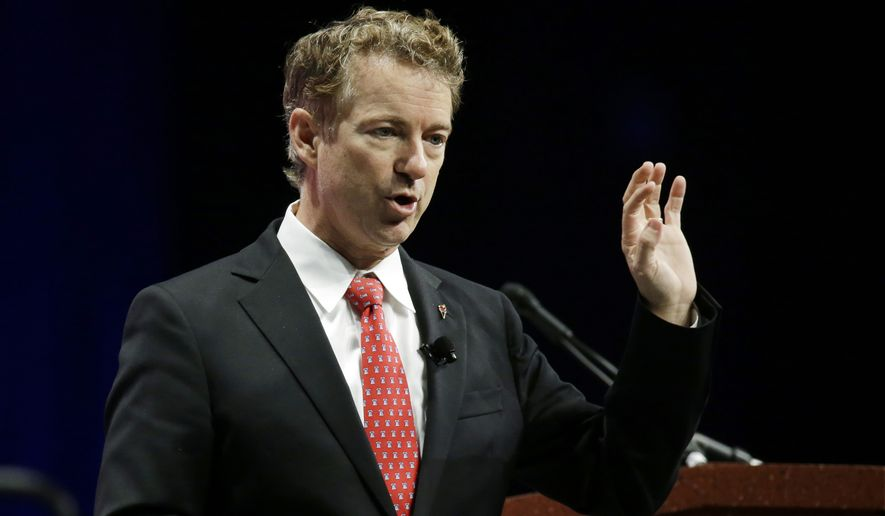 "Sen. Rand Paul of Kentucky said his ""vote-a-rama"" bids to loosen gun laws in the District of Columbia and beat back terrorism prove that he is a Republican presidential contender who will fight to bring ""much-needed change"" to Washington. (Associated Press)"