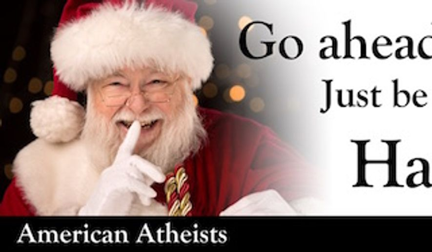 "An atheist nonprofit is erecting billboards advising children to ""go ahead and skip church"" this Christmas. (atheists.org)"