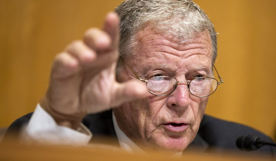 """The message could not be more clear that Republicans and Democrats in both the U.S. Senate and U.S. House do not support the president's climate agenda, and the international community should take note,"" said Sen. James M. Inhofe, chairman of the Committee on Environment and Public Works. (Associated Press)"