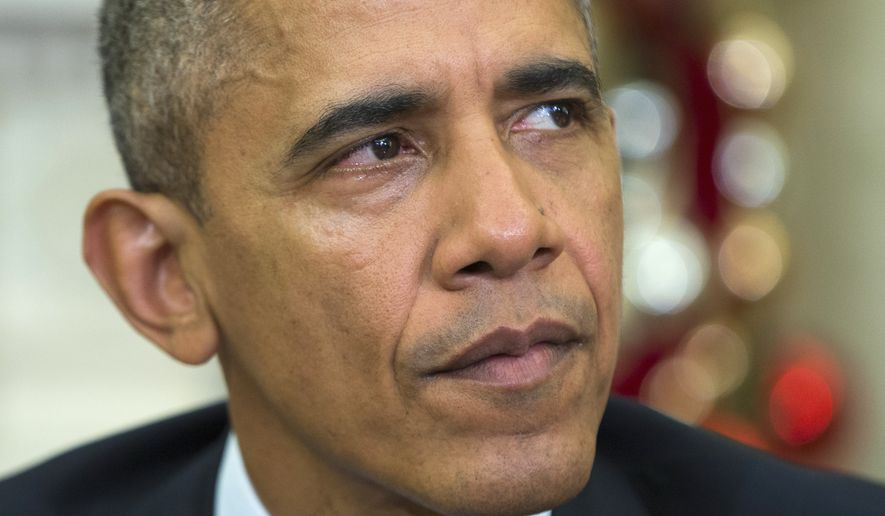 President Obama mostly watched as the Islamic State, defeated by U.S. forces in 2009, reassembled the old al Qaeda in Iraq leadership apparatus across the border amid the turmoil of the Syrian civil war. (Associated Press)