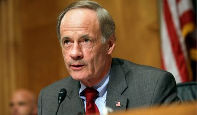 Sen. Thomas R. Carper, Delaware Democrat, said the U.S. should do more to help Central American countries so their citizens are not pushed to the U.S. (Associated Press)