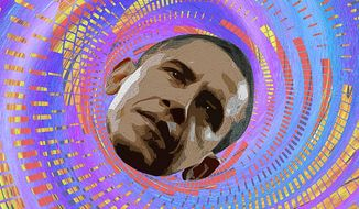 Lost in the Vortex Illustration by Greg Groesch/The Washington Times