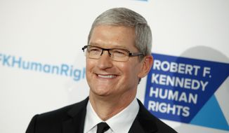 CEO of Apple Inc. Tim Cook attends the 2015 Robert F. Kennedy Human Rights Ripple of Hope Awards at the New York Hilton Midtown on Tuesday, Dec. 8, 2015, in New York. (Photo by Andy Kropa/Invision/AP)