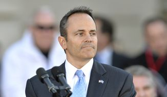 Kentucky Gov. Matt Bevin. (AP Photo/Timothy D. Easley) ** FILE **