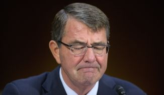 Defense Secretary Ashton Carter told the Senate Armed Services Committee that even if President Obama signed on to an invasion of Raqqa, Syria, U.S. allies show little interest in contributing troops. (Associated Press)