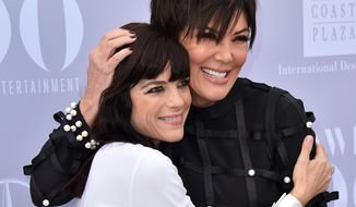 "Selma Blair, left, who plays Kris Jenner in the upcoming ""American Crime Story"", poses with Kris Jenner at The Hollywood Reporter's Women in Entertainment Breakfast at Milk Studios on Dec. 9, 2015 in Los Angeles. (Photo by Jordan Strauss/Invision/AP)"