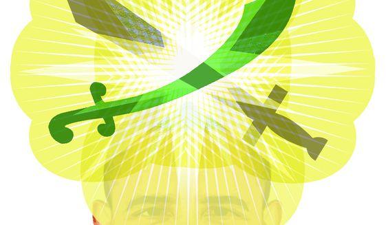 Illustration on Obama's regard for Koranic prophesy by Alexander Hunter/The Washington Times