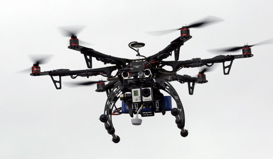 A drone is demonstrated in Brigham City, Utah, on Feb. 13, 2014. (Associated Press)
