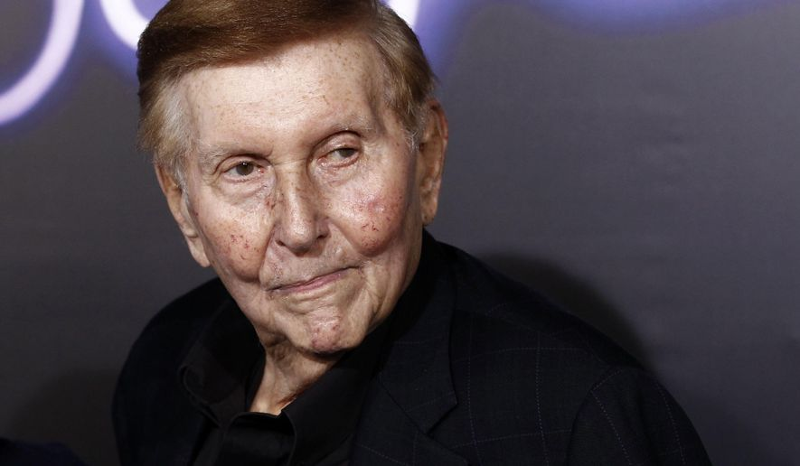 """FILE - In this Oct. 3, 2011 file photo, Sumner Redstone arrive at the premiere of """"Footloose"""" in Los Angeles. Redstone's former companion Manuela Herzer filed court documents Monday, Dec. 14, 2015, seeking a mental evaluation of the media mogul and claiming that his signature appears to have been forged on recent documents. Redstone's lawyer GabrielleVidalvehemently denies her accusations. (AP Photo/Matt Sayles, File)"""