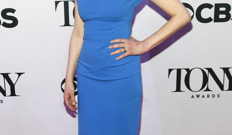 "FILE - In this April 29, 2015 file photo, Judy Kuhn attends the 2015 Tony Awards Meet The Nominees Press Junket in New York. Kuhn is a the four-time Tony Award nominee and current star of ""Fun Home"". ""Fun Home,"" the 2015 best musical Tony Award winner, is now, appropriately, in the black. Producers said Sunday, Dec. 13, 2015, the show has recouped its $5.25 million investment in eight months. The musical is based on Alison Bechdel's graphic novel memoir about growing up with a closeted dad in a funeral home.  (Photo by Andy Kropa/Invision/AP, File)"