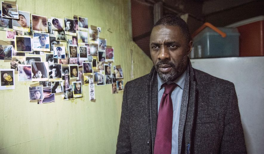"In this image released by BBC America, Idris Elba portrays Detective Chief Inspector John Luther in a scene from ""Luther."" Elba stars in a two-hour special airing at 9 p.m. EST Thursday on BBC America.  (Steffan Hill/BBC America via AP)"