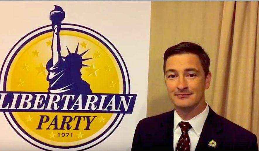 Libertarian National Committee Chairman Nicholas Sarwark. (Libertarian Party) ** FILE **