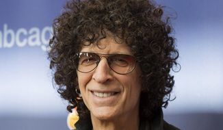 "In this March 2, 2015, file photo, Howard Stern arrives at the ""America's Got Talent"" Season 10 red carpet kickoff at the New Jersey Performing Arts Center in Newark, N.J. Stern is staying on Sirius XM to produce and host his show for another five years, the parties announced Tuesday, Dec. 15, 2015. (Photo by Charles Sykes/Invision/AP, File)"