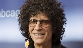 """In this March 2, 2015, file photo, Howard Stern arrives at the """"America's Got Talent"""" Season 10 red carpet kickoff at the New Jersey Performing Arts Center in Newark, N.J. (Photo by Charles Sykes/Invision/AP, File)"""