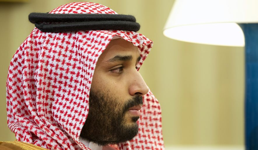 "Saudi Arabian Deputy Crown Prince Mohammed bin Salman listens in the Oval Office of the White House in Washington, during a meeting between Saudi Arabian Crown Prince Mohammed bin Nayef and President Barack Obama, in this May 13, 2015, file photo. Saudi Arabia said Tuesday, Dec. 15, that 34 nations have agreed to form a new ""Islamic military alliance"" to fight terrorism with a joint operations center based in the kingdom's capital, Riyadh. (AP Photo/Jacquelyn Martin, File)"