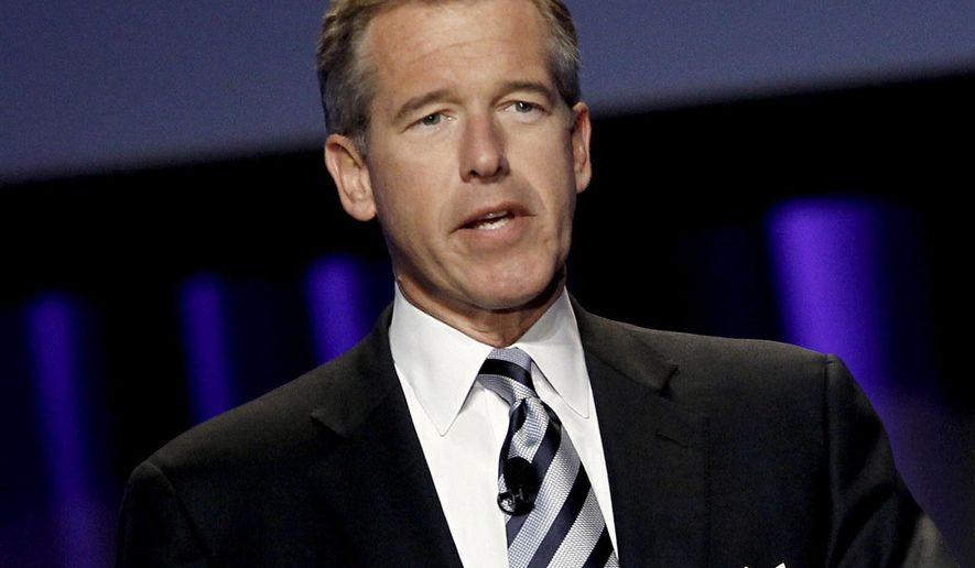 """FILE - In this Oct. 26, 2010 file photo, Brian Williams, then anchor and managing editor of """"NBC Nightly News,"""" speaks at the Women's Conference in Long Beach, Calif. A threat of violence against Los Angeles schools brought Williams back on-air for NBC News. In his first appearance since losing his anchor job, Williams handled a NBC News special report Tuesday, Dec. 15, 2015, on the closure of LA public schools. (AP Photo/Matt Sayles, File)"""