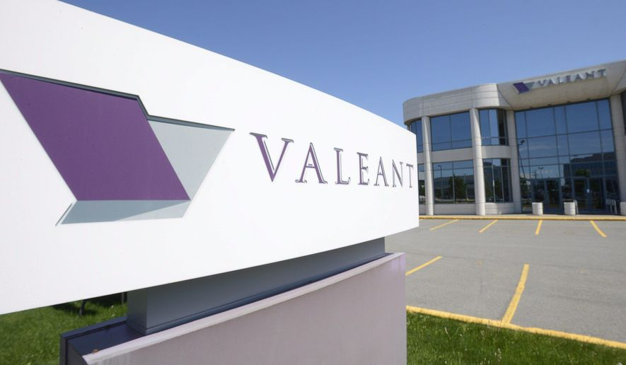 FILE - This May 27, 2013, file photo, shows the head office and logo of Valeant Pharmaceuticals in Montreal. Valeant Pharmaceuticals has a new distribution deal with Walgreens, sending shares of the beleaguered drug company up sharply before the opening bell. The company said Tuesday, Dec. 15, 2015 that the agreement will help to lower the prices of its branded prescription-based dermatological and ophthalmological products by 10 percent.(Ryan Remiorz/The Canadian Press via AP, File) MANDATORY CREDIT