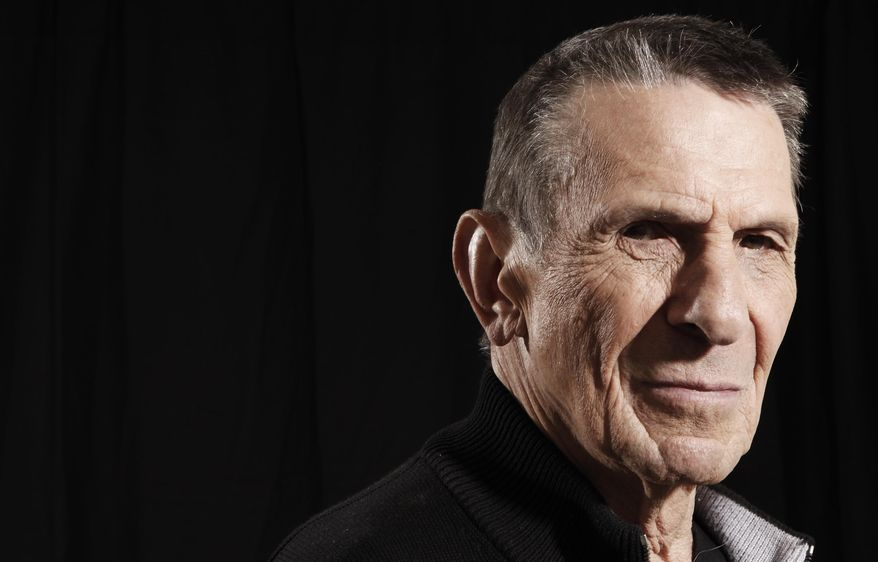 "In this April 26, 2009 photo, actor Leonard Nimoy poses for a portrait in Beverly Hills, Calif. Nimoy, famous for playing Mr. Spock in the ""Star Trek"" television series and movies, died Friday, Feb. 27, 2015 of end-stage chronic obstructive pulmonary disease. He was 83. (AP Photo/Matt Sayles, File)"