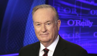 "In this Oct. 1, 2015, file photo, Bill O'Reilly of the Fox News Channel program ""The O'Reilly Factor,"" poses for photos in New York. (AP Photo/Richard Drew, File)"