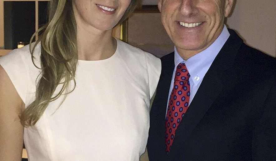 In this Tuesday, Dec. 15, 2015 photo released by the Vermont Governor's Office, Gov. Peter Shumlin, right, poses with his wife Katie Hunt after their marriage at their home in East Montpelier, Vt. After Shumlin leaves office in early 2017, he and his wife plan to make their home in southern Vermont, where they both grew up. (Evie Lovett/Vermont Governor's Office via AP)