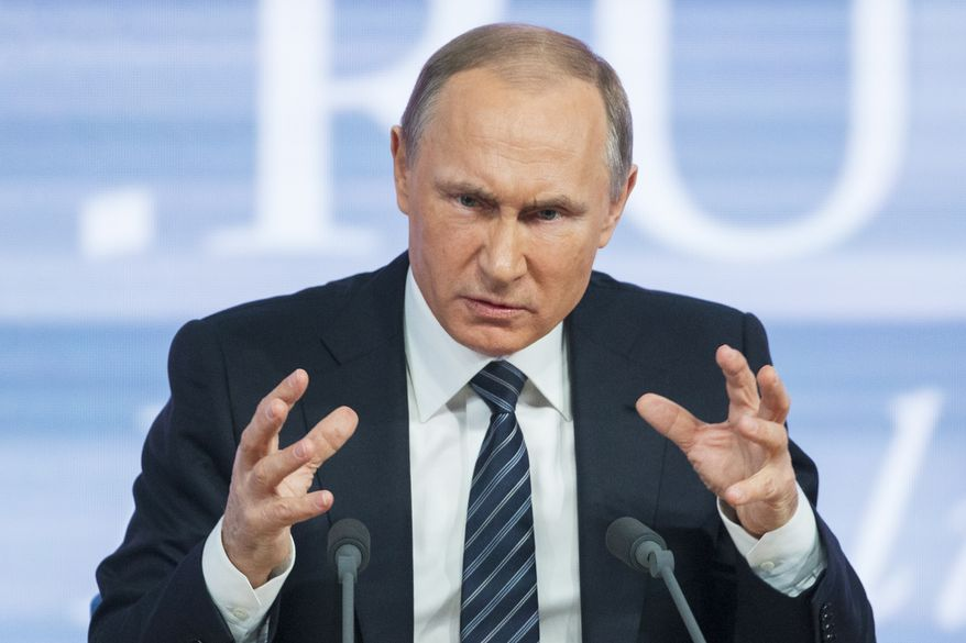 Russian President Vladimir Putin said Turkey acted contrary to its own interests by downing a Russian warplane. (Associated Press/File)