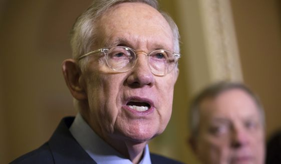 """""""They don't need a massive check from the taxpayers,"""" said Senate Minority Leader Harry Reid, Nevada Democrat. """"This is about giving Puerto Rico and their leaders the same tools that every state has, the same tools that are currently available in every state."""" (Associated Press)"""