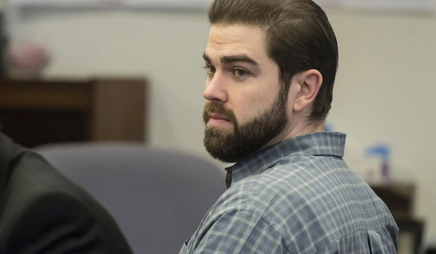 In this Dec. 9, 2015 photo, Daniel Wozniak sits in court as opening statements begin in his murder trial in Santa Ana, Calif. Wozniak, who killed two people and dismembering one in a scheme to steal money and cover his tracks, was convicted Wednesday, Dec. 16, of first-degree murder. (Joshua Sudock/The Orange County Register via AP) MAGS OUT; LOS ANGELES TIMES OUT; MANDATORY CREDIT