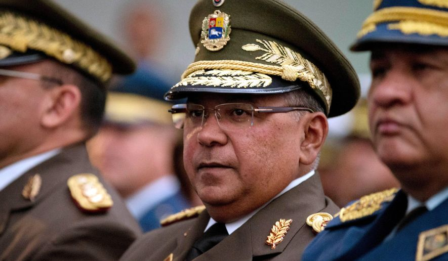 Venezuela's National Guard Commander Gen. Nestor Reverol attends a ceremony commemorating the anniversary of the death of independence hero Simon Bolivar in Caracas, Venezuela, Thursday, Dec. 17, 2015. (AP Photo/Fernando Llano) ** FILE **
