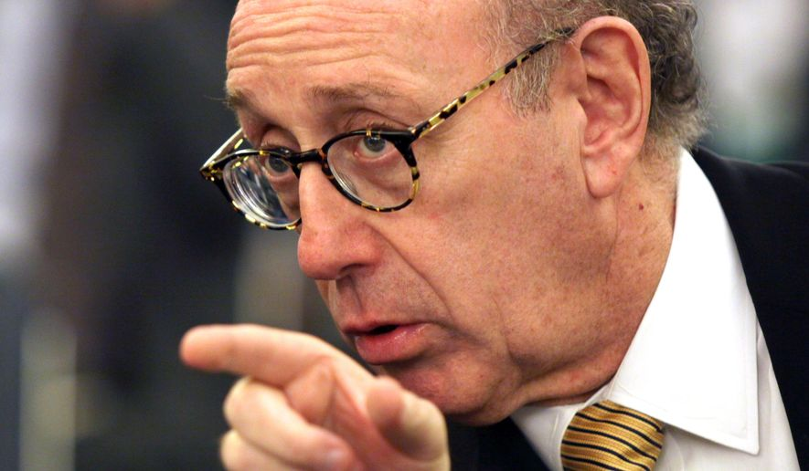 FILE - In this July 17, 2014, file photo, compensation expert Kenneth Feinberg, who is administrating a fund to pay crash victims, testifies on Capitol Hill in Washington, Thursday, July 17, 2014, before a Senate Commerce subcommittee hearing examining accountability and corporate culture in wake of the GM Recalls. Feinberg, who has worked out payments to victims of the BP Gulf oil spill, General Motors ignition switch scandal and other high-profile cases, has been hired by Volkswagen to do the same thing for car owners caught in an emissions-cheating scandal, the German automaker announced Thursday, Dec. 17, 2015. (AP Photo/Lauren Victoria Burke, File)