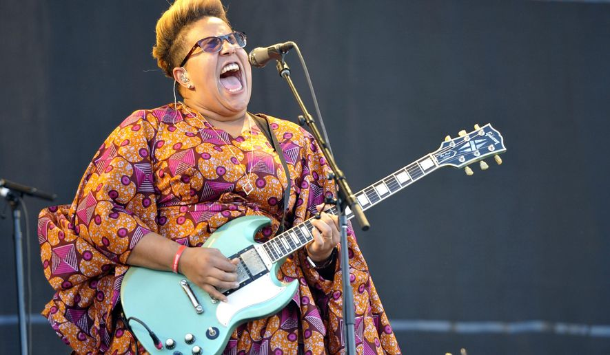 "FILE - In this July 31, 2015 file photo, Brittany Howard of Alabama Shakes performs at Lollapalooza in Chicago.  Alabama Shakes released their second album, ""Sound & Color,"" in April. (Photo by Rob Grabowski/Invision/AP, File)"