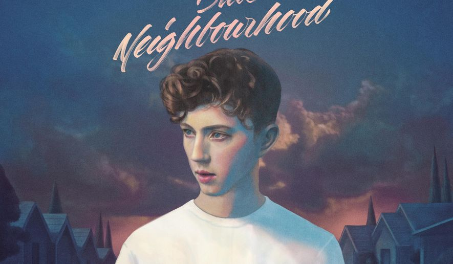 "This CD cover image released by Capitol Records shows ""Blue Neighborhood,"" the latest release by Troye Sivan. (Capitol Records via AP)"