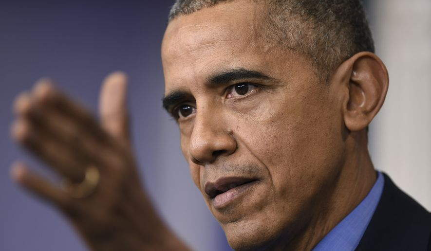 President Barack Obama speaks during a news conference in the Brady Press Briefing room at the White House in Washington. (AP Photo/Susan Walsh)