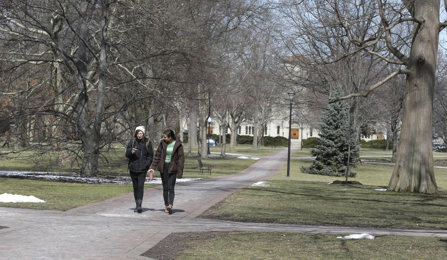 A lawsuit filed last year by a student expelled from Oberlin College in Ohio reveals that every student who went through the college's formal sexual assault adjudication process was found responsible on at least one count.(Associated Press/File)