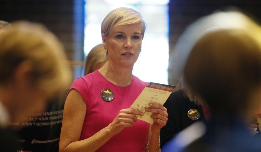Planned Parenthood chief Cecile Richards said stripping her organization of federal funding would cut off access to birth control, cancer screenings and treatment for sexually transmitted infections. (Associated Press) ** FILE **
