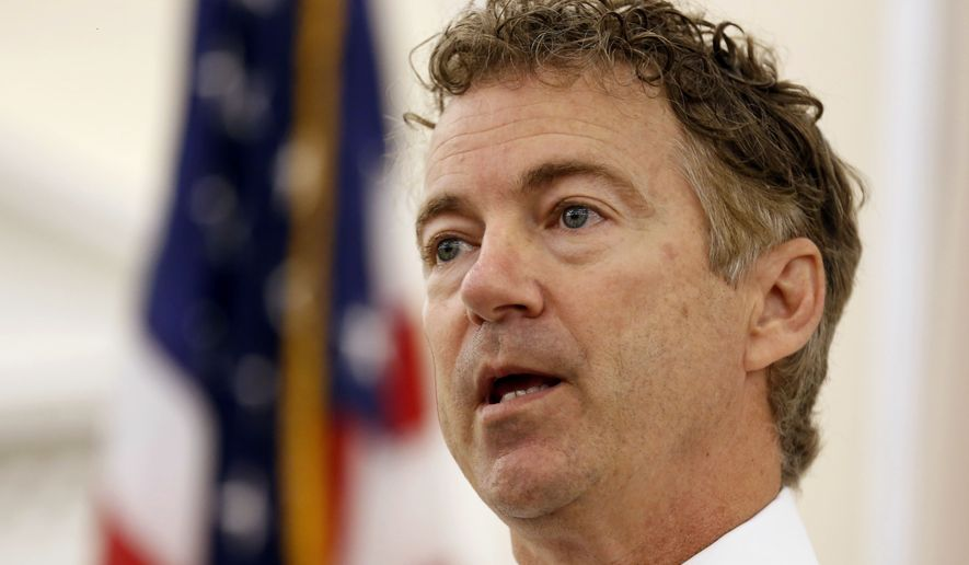 Republican presidential candidate Sen. Rand Paul has struggled to organize, raise money and find a message to reach voters the way his father did. (Associated Press)