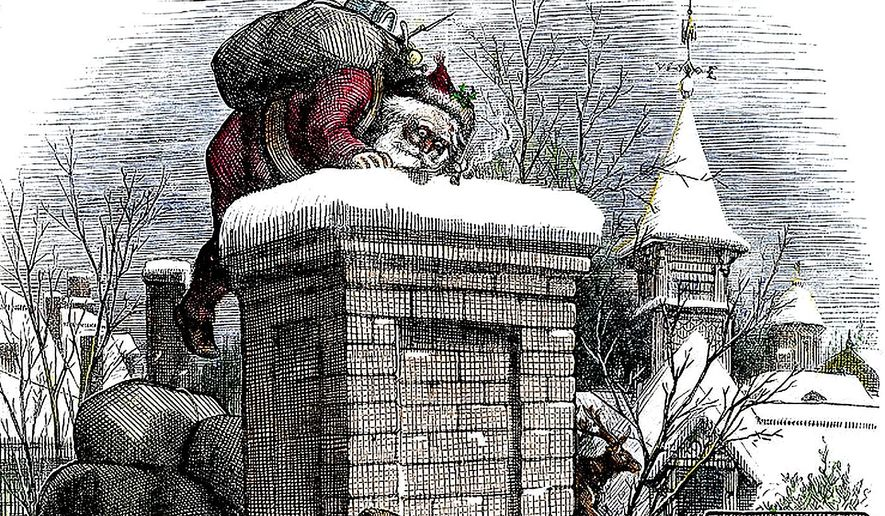 A Christmas drawing by Thomas Nast